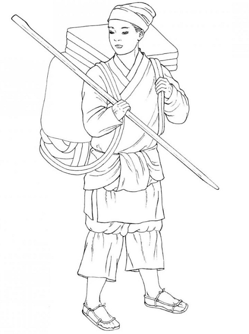 Ancient Chinese Princess Coloring Page